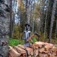 Дровосек в настоящем лесу :: Ирина Фирсова