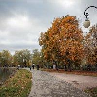 Пасмурный день в осеннем парке... :: Сергей Кичигин