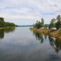 Залив на Енисее возле села Юксеево (Красноярский край) :: Татьяна Соловьева