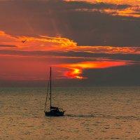 Ах, как красив закат над морем. :: Александр Пушкарёв