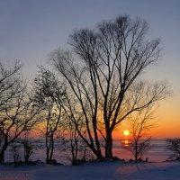 Морозный закат :: Евгений Кирюхин