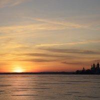 Закат на озере Неро. :: LIDIA V.P.