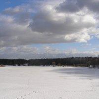 Облака над Лебедянским прудом :: Анна Воробьева