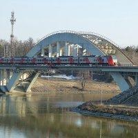 Химкинский железнодорожный мост через канал им. Москвы :: Лидия Бусурина