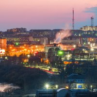Вид на вечернюю Ухту. :: Николай Зиновьев