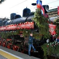 Поезд Победы прибыл на Белорусский вокзал. :: Татьяна Помогалова