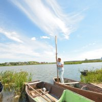девушка с веслом :: леонид логинов
