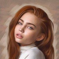 Портрет девушки сухой кистью :: Anna Denisova