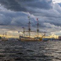 На рейде в акватории Невы. :: Владимир Питерский