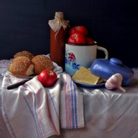 Натюрморт с красными помидорами :: Елена Макарова