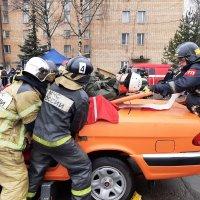 Соревнования спасательного гарнизона по работе и оказанию помощи при ДТП :: Мария Коледа