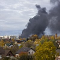 Пожар на стройке :: Петр Беляков