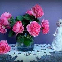Розовые розы Светке Соколовой.. :: TAMARA КАДАНОВА