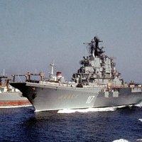 "ТАКР ""Минск"" и танкер ""Борис Чиликин"" на боевом дежурстве. :: Александр Гризодуб"
