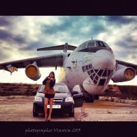 Небо. Девушка. Самолет . :: Анастасия Власова