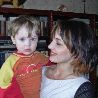 Из семейного альбома. 2004 год. Внук и дочь :: Владимир Шибинский