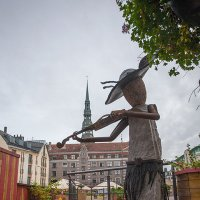 Каменный музыкант, Рига :: Андрей Селиванов