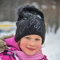 Портрет девочки зимой. :: Ирина Токарева