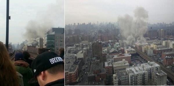 Взрыв бытового газа в Нью-Йорке, есть жертвы