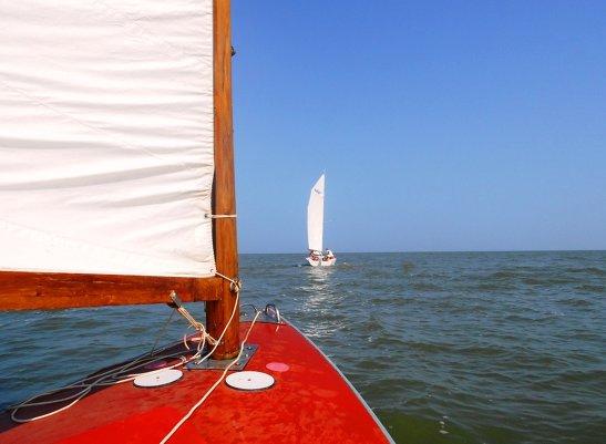 На яхте, летом в походе