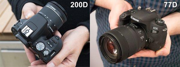 Сравнение новых фотокамер Canon EOS 200D и Сanon EOS 77D