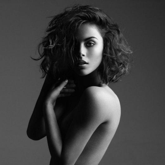 черно-белая фотография портрет