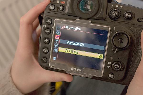 фокусировка кнопкой AF-ON: только AF-ON