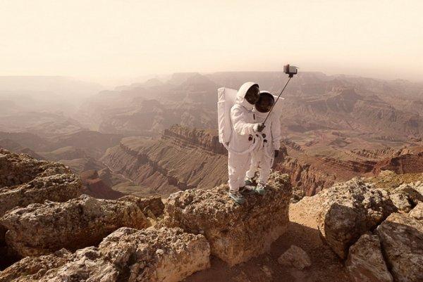 Фото с Марса на селфи-палку