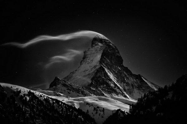 черно-белые пейзажи природы 10