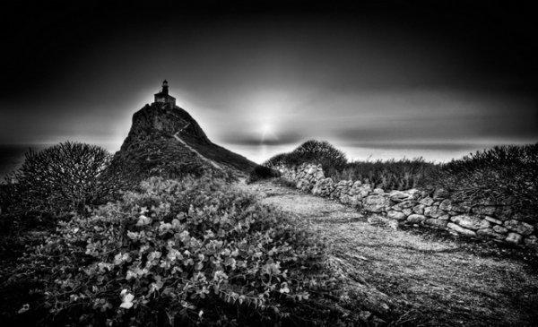 черно-белые пейзажи природы 14