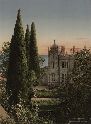 Неизвестный автор. Алупка. Императорский дворец. 1900 – 1910-е. Фотохром
