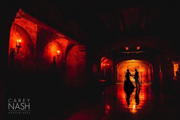 Свадебные портреты в темноте