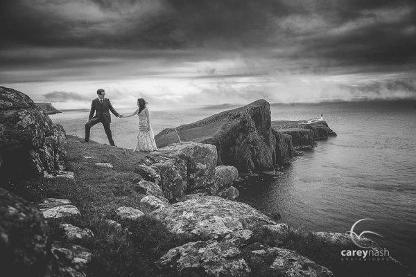 Свадебные портреты в черно-белом