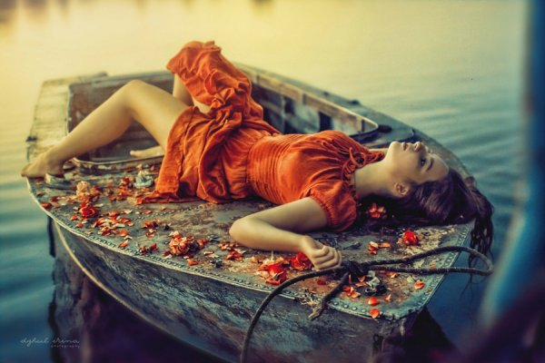 восхитительные портреты на лодке