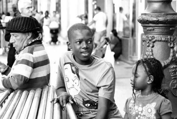 Съемка на улице людей