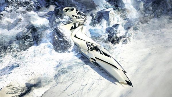 Студия Захи Хадид, Вена. Трансформирующийся антарктический научно-исследовательский центр