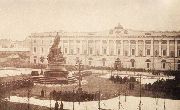 Санкт-Петербург. Открытие памятника Екатерине II.