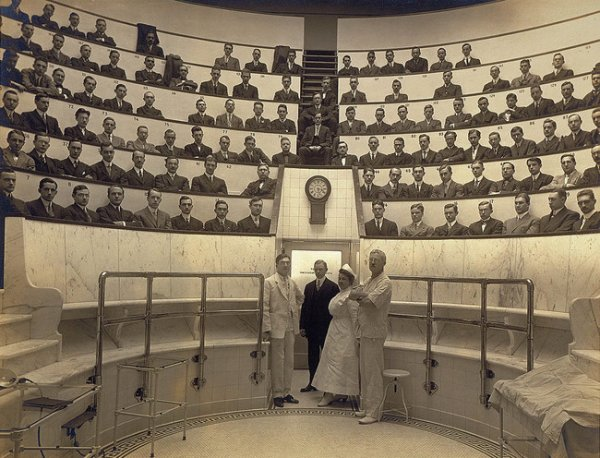 Медицинская аудитория, 1910 год.