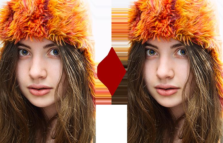 основы ретуши лица 7