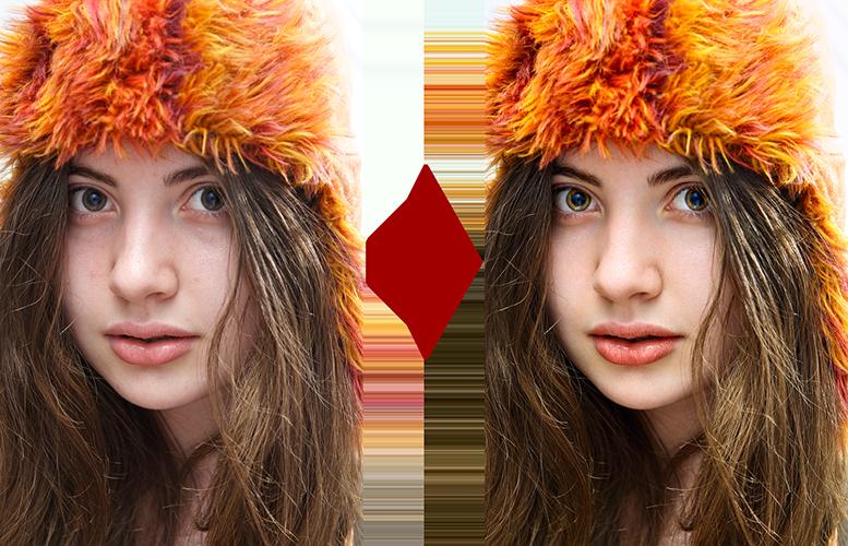 основы ретуши лица 11
