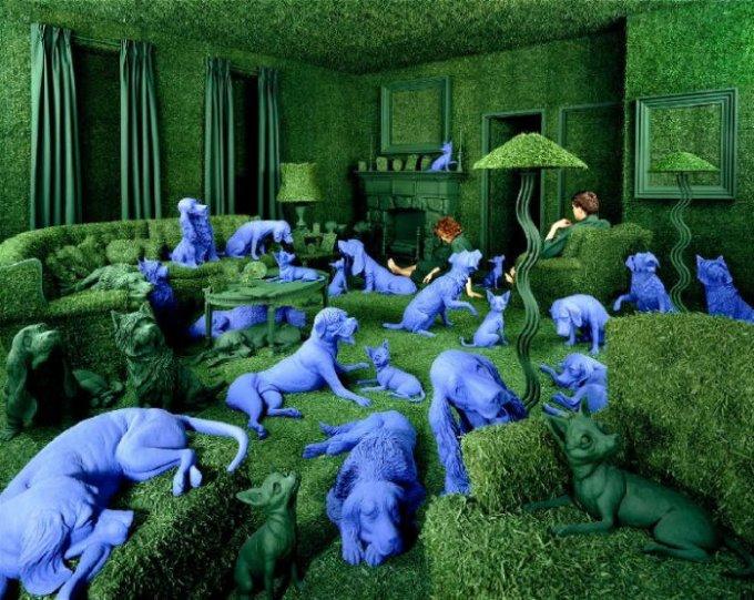 Баланс между фантазией и реальностью от фотографа Sandy Skoglund - №12