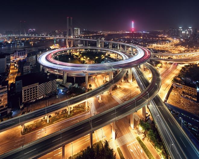 Aото городской пейзаж - мост Нанпу