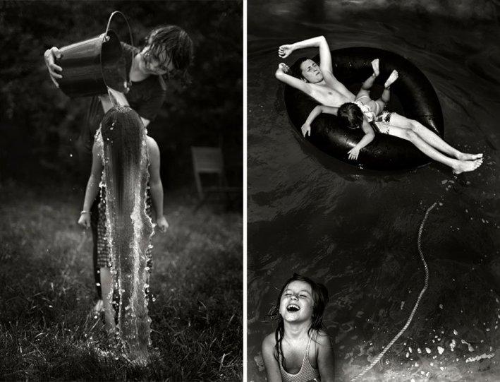 Семейные черно-белые фотографии Алена Лябуэля - №14