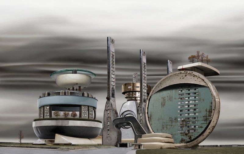 Архитектурные фантазии из домашних предметов - №12