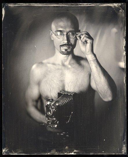 Амбротипия. Удивительные фотографии Миши Бурлацкого. - №2