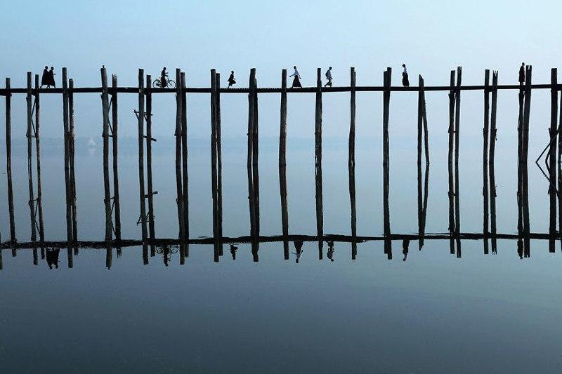 Мост У-Бейн, Мьянма