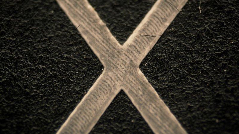 Клавиша «X» на компьютере