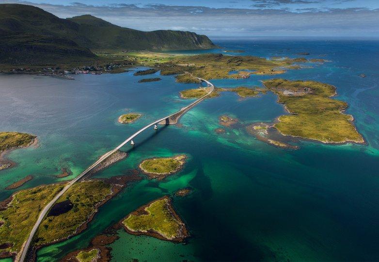 Роскошные пейзажи Норвегии - №3