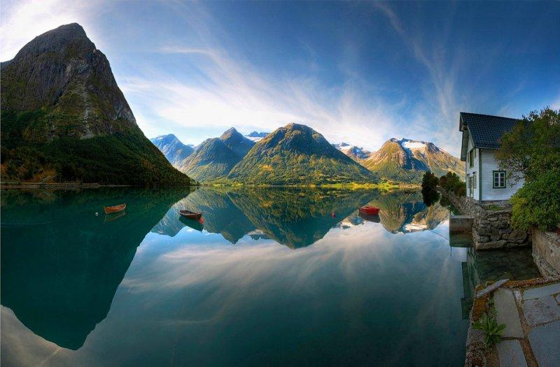 Роскошные пейзажи Норвегии - №18