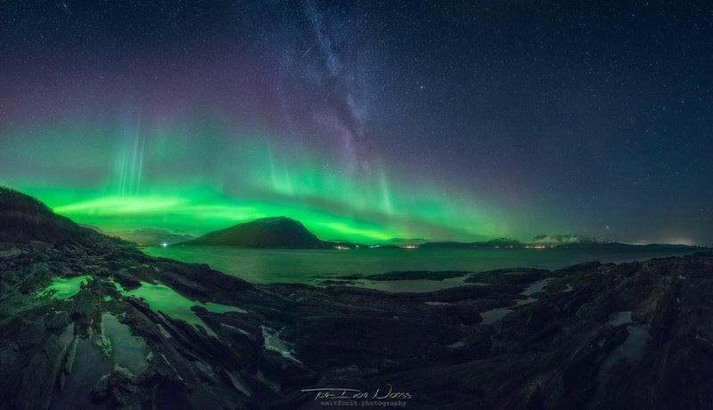 Полярное сияние над Норвегией - №4
